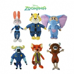 9inch Original Disney Zootopia Cartoon Plush Stuffed Toys