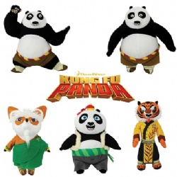 Super Cute kung Fu Panda 4 Cartoon Plush Toys 10inch