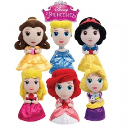 Original Disney Princess Lovely Cartoon Stuffed Plush Toys 22cm