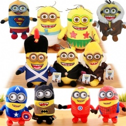 20cm Cartoon Plush Toys Minions With 3D Eye For Crane Vending Toy Machine