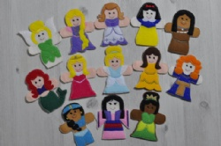 Cute And Fashion Cartoon Disney Princess Felt Finger Puppets For Promotion Gifts