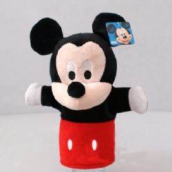 Lovely Mickey Mouse Minnie Mouse Plush Hand Puppets For Promotion Gifts